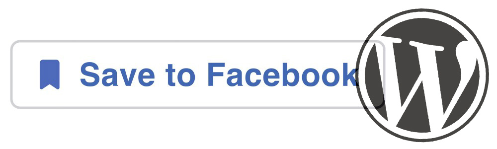 facebook save button in wordpress without plugin